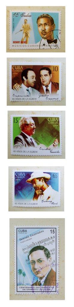 Sellos cubanos de musica