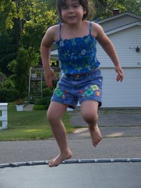 Alexis on the Trampoline