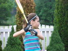 Catie at bat