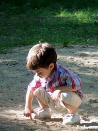 Daniel Playing in the Sand