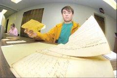 Step 1:  Volunteers Flattening Documents