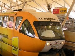 Monorail train at Chow Kit station