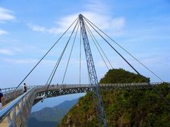 Hanging bridge at mount mat cincang in langkawi island