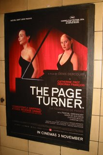 Poster inn London Underground for the film The Page Turner