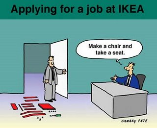 Cartoon about an IKEA job interview - unknown source