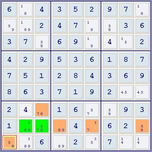 El Sofista Sudoku Avanzado El Método De La Exclusión Por Par Alineado