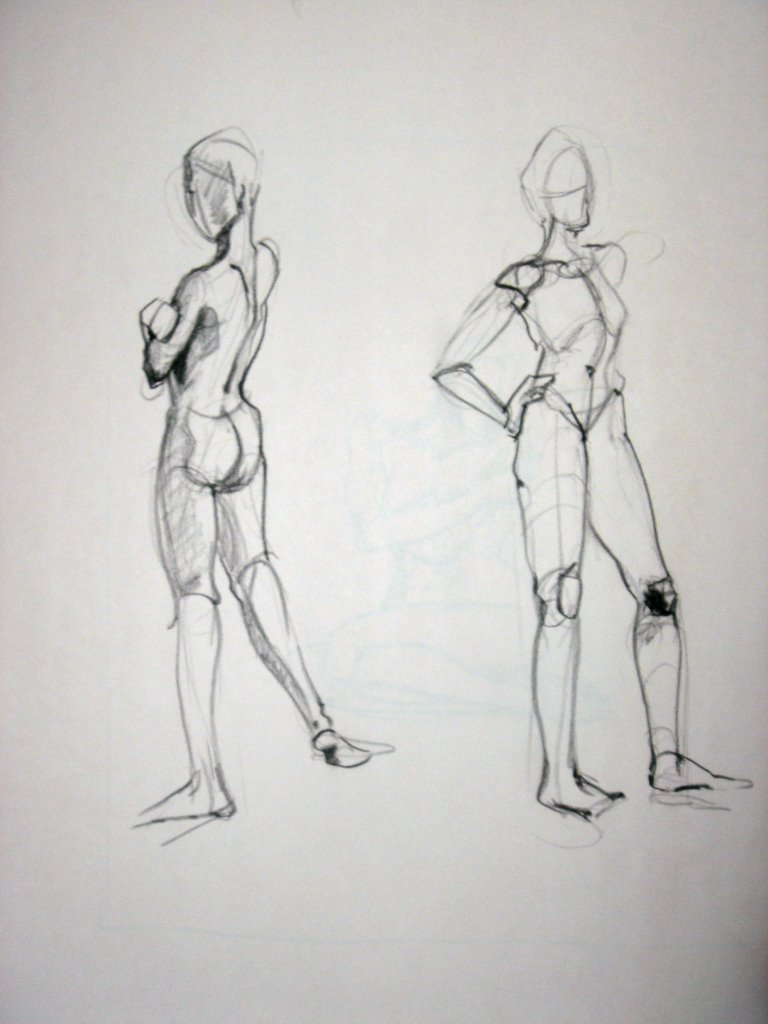model Figure poses drawing