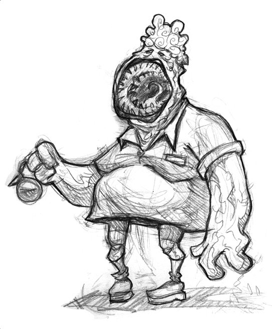 Blogcha!: Monster Sketches