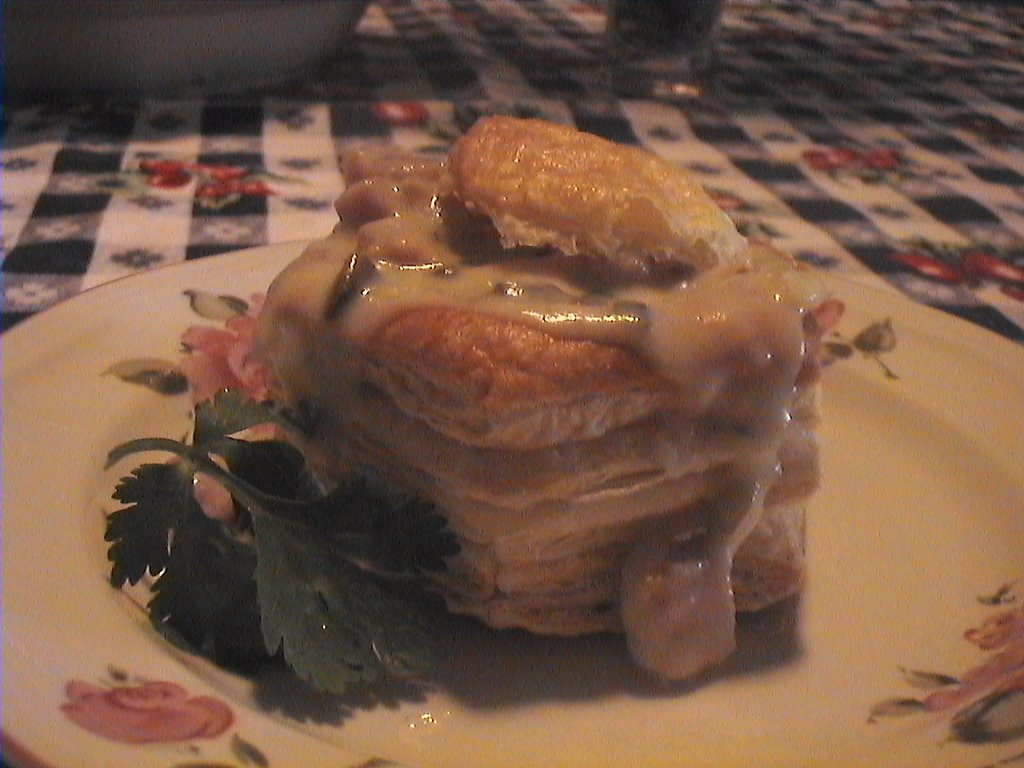 Vol au vent jambon et champignons for 1 cuillere a table en ml
