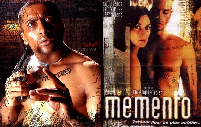 Image result for memento and ghajini