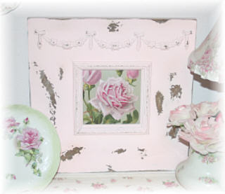 ~ Gorgeous Pink Chippy Frames ~