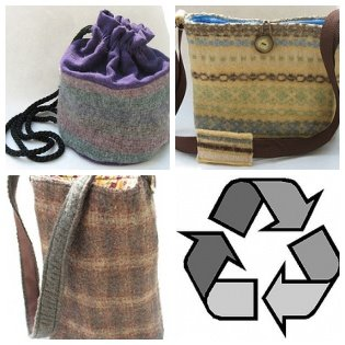 recycled sweater bags