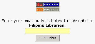 Subscribe to Filipino Librarian