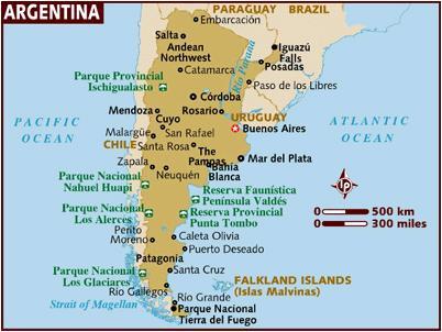 Andy S Vuelta Al Mundo Landkarte Von Argentinien Paraguay Und