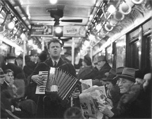 Walker Evans, The Accordian Player