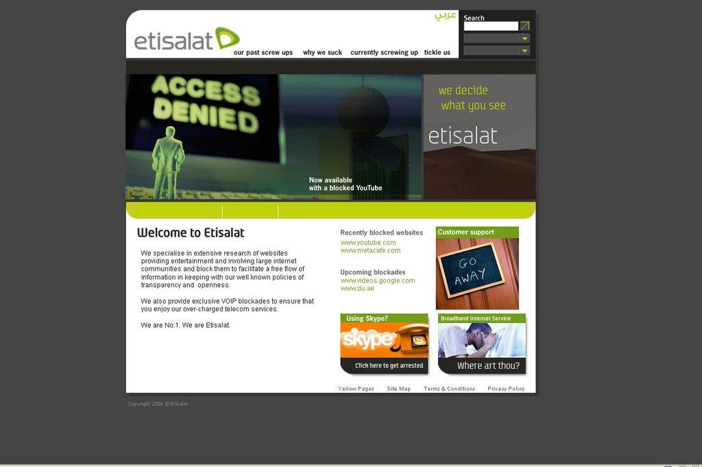 Bol Dubai!: The New Etisalat Home Page