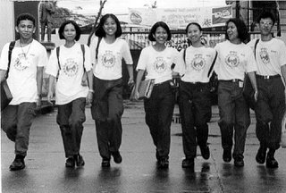 It's easier to shoot odd-numbered groups; 1996; photo by Atty. Galacio