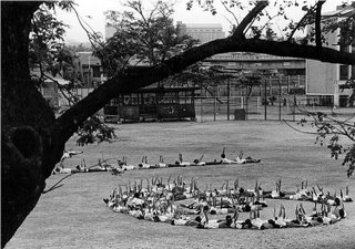 Natural frames; Rizal High School Field Demo 1996 practice; photo by Atty. Galacio