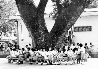 Rizal High School 1992, Batibot area; scale; photo by Atty. Galacio