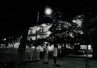 Shooting at night; B-setting; Rizal High School 1993; photo by Atty. Galacio