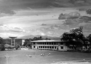 Conveying depth through foreground elements and difference in intensity of tones; Rizal High School 1995; photo by Atty. Galacio