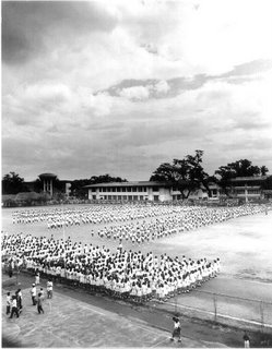 Rizal High School Field Demo 1996; decisive moment; photo by Atty. Galacio