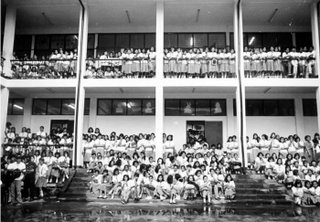 Rizal High School Main Bldg 1995; psychological effects of lines; photo by Atty. Galacio