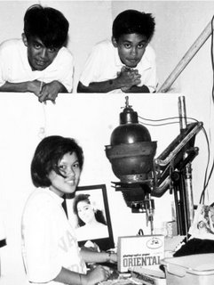 Rizalian darkroom 1992 with Leili and classmates; photo by Atty. Galacio