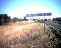 Newell Highway creek sign - Little Bumble Creek