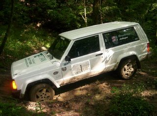 jeep cherokee stuck in the mud
