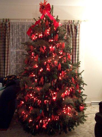 Decorating Mini Christmas Trees