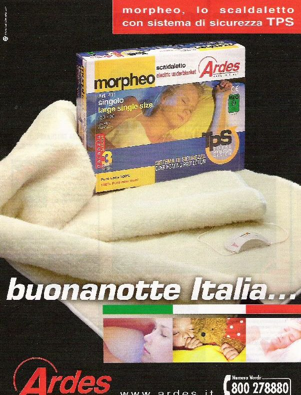 Ardes Scaldaletto Buonanotte.Dasi Italy Ads For Made In Italy