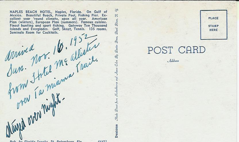 The Pomfret S Florida Motel Postcards C 1952