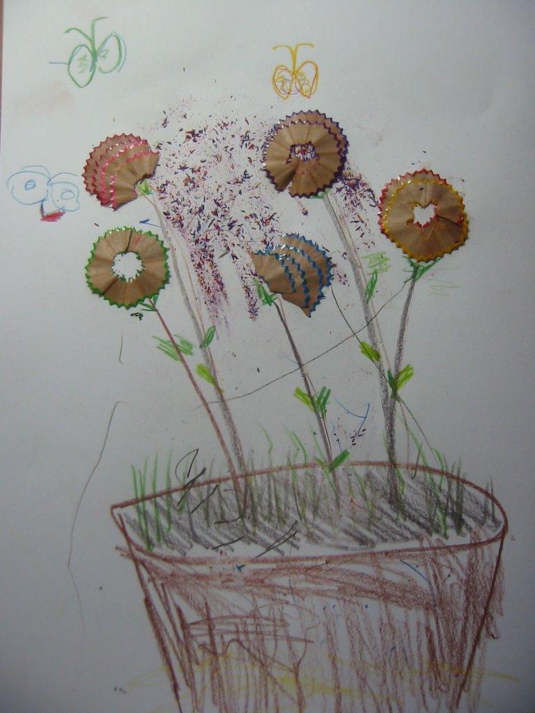 Pencil Shaving Flower Craft For Kids Parenting Times