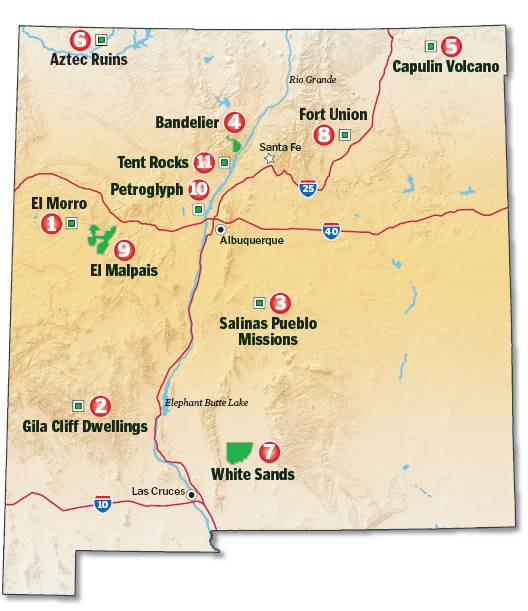 National Parks In New Mexico Map.Santa Fe Journal National Parks Not Far From Santa Fe