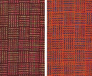 More handwoven log cabin scarves.
