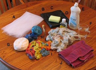 The supplies needed to fuse silk fibers.