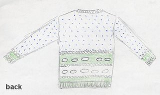 Leigh's sketch for her rare breed sweater.