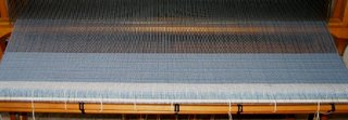 Weaving started, at last.