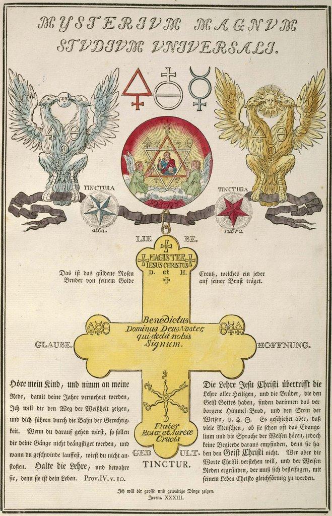 Bibliodyssey The Secret Rosicrucian Symbols
