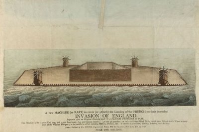sketch alleged invasion raft 18th century