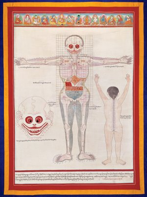 Tibet Anatomy gouache on paper 20th century