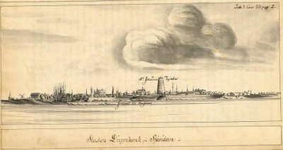 Swedish East India Company - sketch at Surat