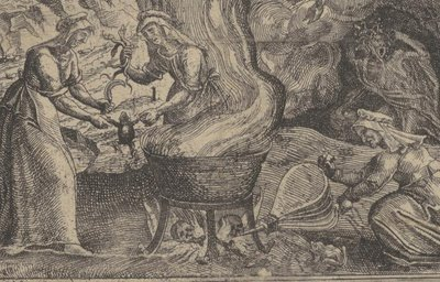 witches at cauldron detail