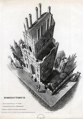 Birdseye view of horizontorium building 1832