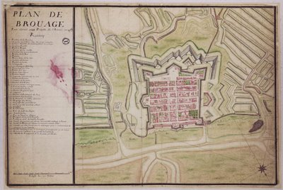 1729 map of brouage