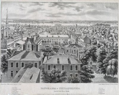 Panorama of Philadelphia from the State House Steeple 1838