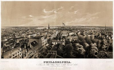 Philadelphia, from the State House steeple 1849