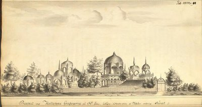 Surat - drawing of mosque - Swedish East India Company
