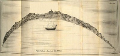 Surat - drawing of semicircular island - Swedish East India Company